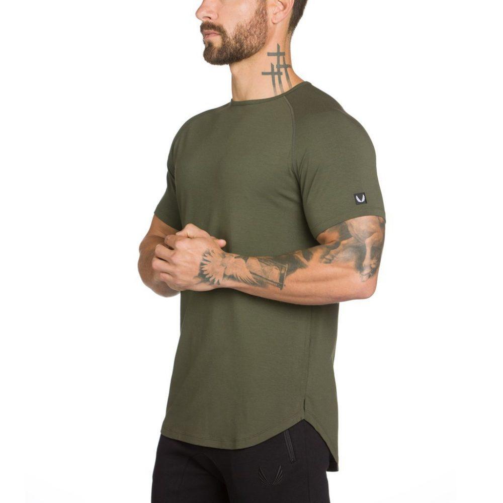 Áo thun trơn thể thao ASR03, áo tập gym nam