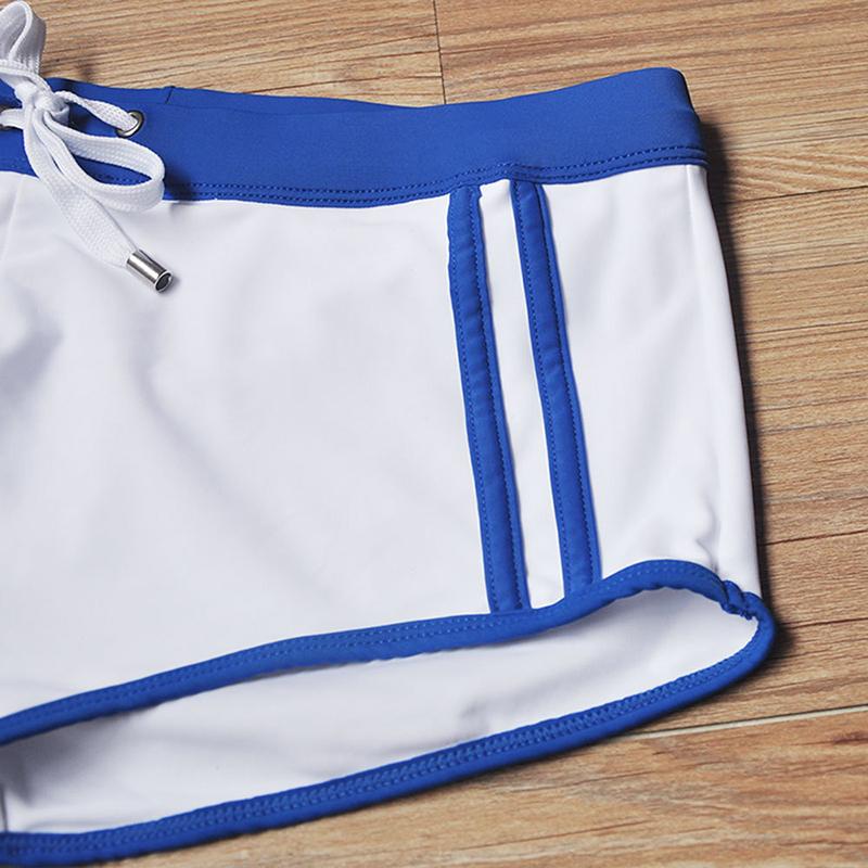 Quần bơi nam boxer màu trắng QBUXH118